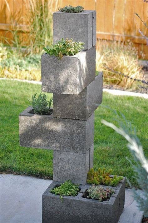 cinder block garden ideas furniture planters walls and