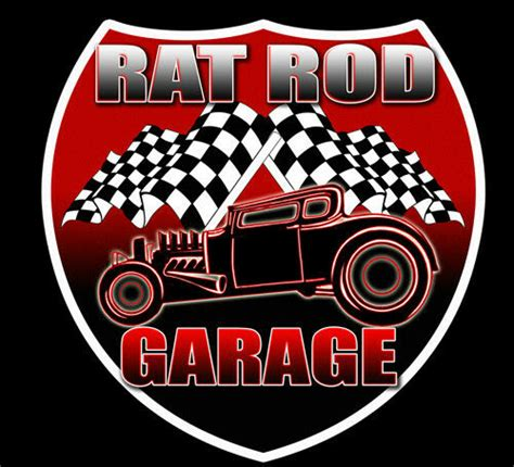 rat rod garage  pack vintage style hot rod decal vinyl