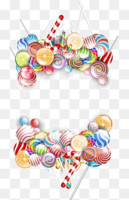 colored candy border frame vector candy png transparent
