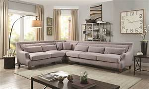 Sutton place 3 piece grey sectional haynes furniture for Sectional sofas room place