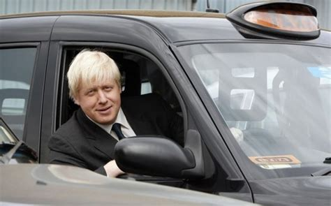 london mayor boris johnson told black cab driver