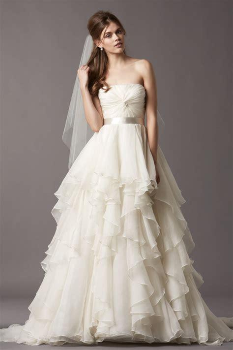 tiered wedding gown  popular bride wear
