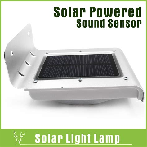 sound sensor detector solar powered led light security