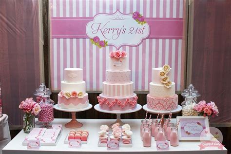 my 21st cake table by cuppyandcake cakesdecor