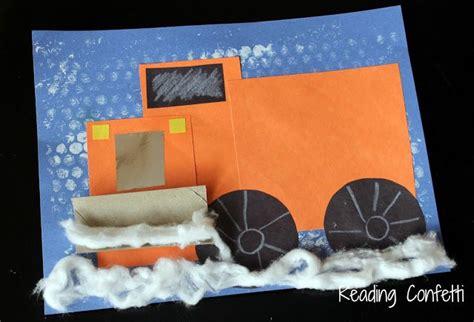 snowplow craft  reading confetti