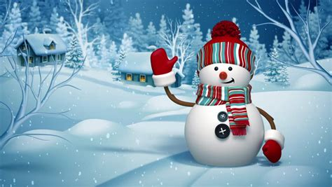 Animated Snowman Wallpaper - snowman salutation animated greeting card 3d