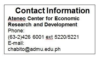 bureau for research and economic analysis of development loyola schools centers ateneo de manila