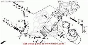 Honda Cr125r 1986 Usa Exhaust Manifold  U0026 39 84- U0026 39 86