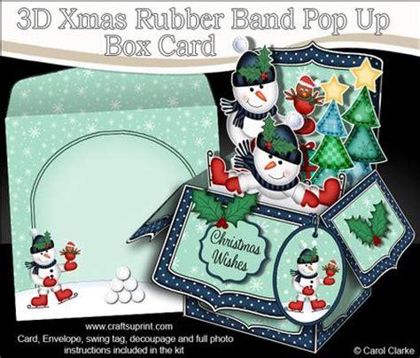 pop up card box template christmas 3d snowmen rubber band pop up box card cup565952 359 craftsuprint