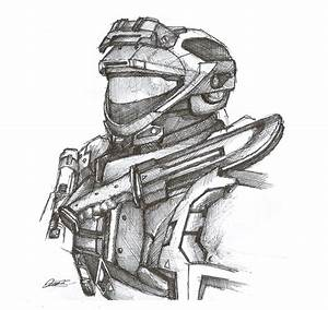 Halo Reach Spartan Pen Sketch by InkTheory-Design on ...