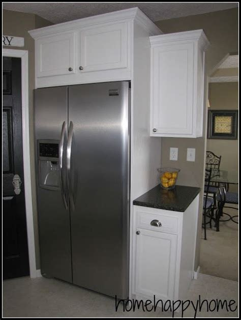 box above kitchen cabinets 17 best ideas about refrigerator cabinet on 4866
