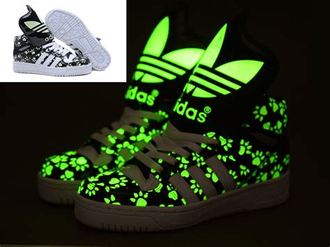 Adidas Glow In The Dark Shoes Bear Paws Black Adidas Glow