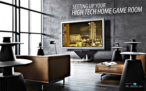 Living in Modern Luxury ? Setting Up Your High Tech Home Game Room   The Pinnacle List