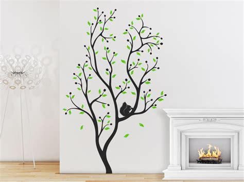 Wandtattoo Baum Mit Eichhörnchen Wandtattoode