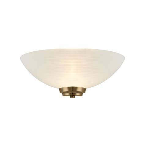 endon welles 1wbab 1 light grooved glass antique brass