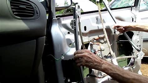 Dodge Caravan Voyager Window Regulator Motor Removal Youtube