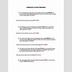 Layaway Math Worksheet For Consumer Math By Ashleys Tpt