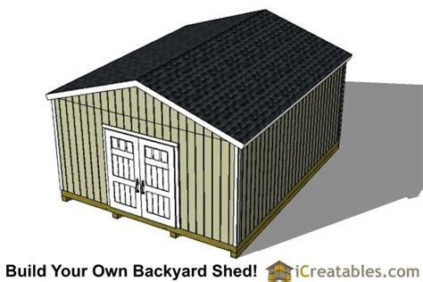Best 16x20 Shed Plans by 16x20 Gable Shed Plans Large Backyard Shed Plans