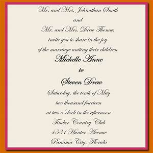 wedding invitation wording samples free matik for With wedding invitations words sample