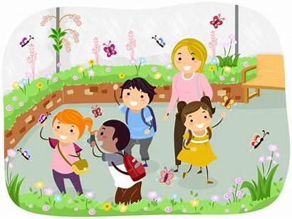 Trip Field Outing Trips Students Kindergarten Pupils
