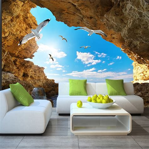 3d Wallpapers For Walls by Tropical Wall Mural Custom 3d Wallpaper For Walls