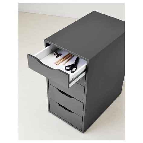 gray desk with drawers alex drawer unit grey 36x70 cm ikea