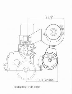 10005 Power Steering  U0026 Alternator Bracket 153 194 215 230