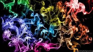 Rainbow, Smoke, Desktop, Wallpapers, Desktop, Background