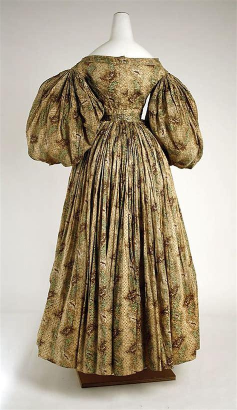 dress date ca 1832 culture american medium cotton fashion history 1825 1850 in 2019