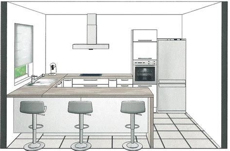 cuisine projet plan de travail cuisine 4m maison design homedian com