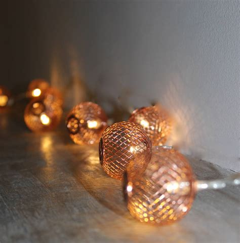 copper string lights copper mesh lights by the forest co