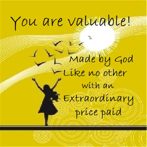 You Are Valuable In God's Sight  A Message From Michael