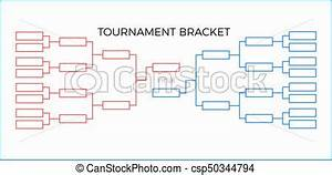 Game Bracket Template Tournament Bracket Vector Illustration Red And Blue