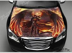 Angel of Fire Full Color Graphics Adhesive Vinyl Sticker