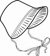 Pilgrim Bonnet Coloring Clipart Hat Template Colorir Printable Touca Roupas Transparent Desenhos Tudodesenhos Templates Desenho Bebe Magician Supplyme sketch template