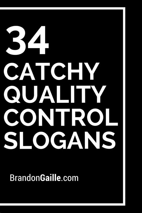 List of 101 Catchy Quality Control Slogans | Catchy