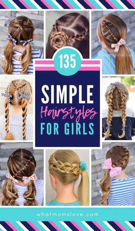 Best Easy Girls Hairstyles for toddlers to tweens &