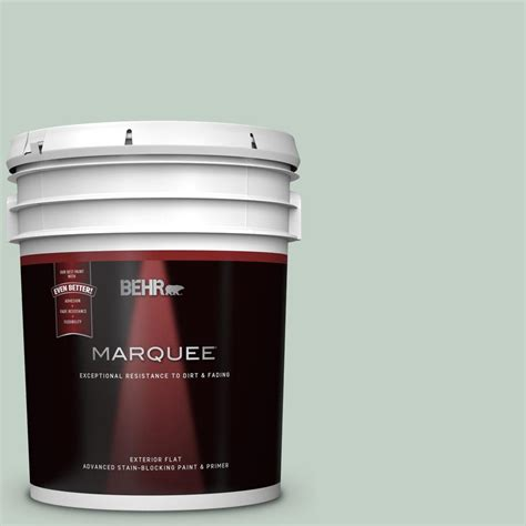 behr marquee 5 gal ppu11 13 frosted jade flat exterior paint and primer in one 445005 the