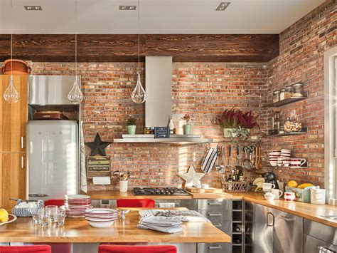 Cozy Home Interior With Red Brick Wall Design  4betterhome