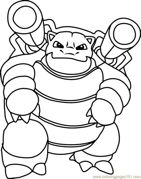 Kleurplaat Blastoise by Blastoise Coloring Page Free Pok 233 Mon Coloring