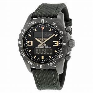 Breitling Chronospace Military Black Dial Black Carbon ...