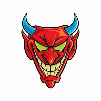 Devil Smiling Satan Evil Stickers Factory