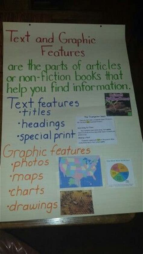 text  graphic features anchor chart  grade