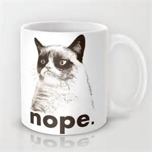 nope grumpy cat mug by medbury lazy j studios