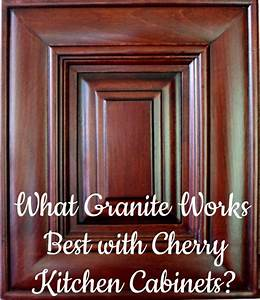 Best granite countertops for cherry cabinets for Best brand of paint for kitchen cabinets with wall art for staging