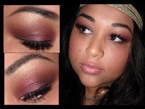 sultry golden burgundy eyeshadow tutorial youtube