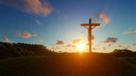 Jesus Cross Animated Wallpapers - jesus on cross sunset concept for religion motion