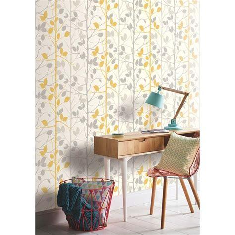 arthouse woodland grey yellow wallpaper