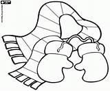 Scarf Santa Claus Gloves Coloring Pages Clothes Kesztyű Oncoloring Printable Szinez� Game Oldal Es Sal Mikulas Innen Mentve Hat sketch template