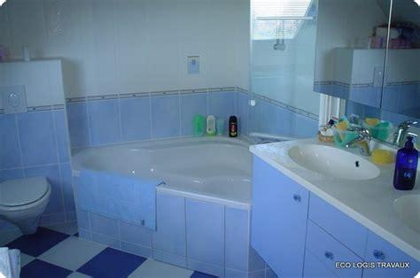 evier vasque cuisine baignoire d 39 angle pour cette salle de bain eco logis travaux